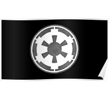 Galactic Empire Logo Grey Poster
