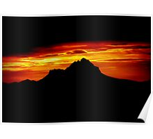 Sunset Peak Over Shadowed Poster