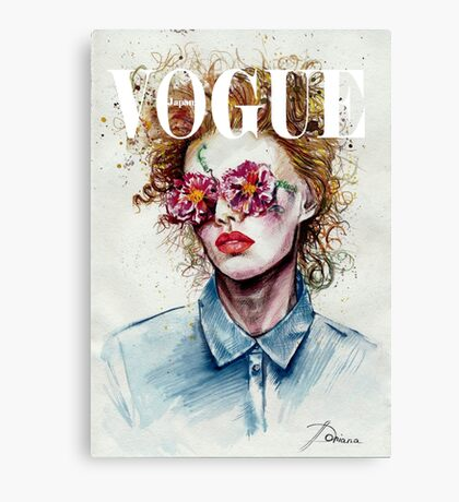 vogue cover Canvas Print