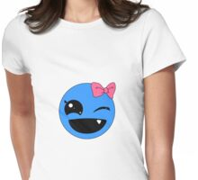 Happy Blue Monster Tee Womens Fitted T-Shirt