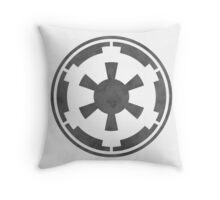 Galactic Empire Logo Grey Throw Pillow