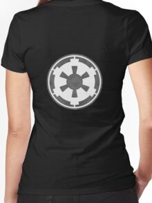 Galactic Empire Logo Grey Women's Fitted V-Neck T-Shirt