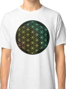 Flower of Life - Yellow to Green Classic T-Shirt