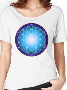 Starburst Blue Flower of Life Women's Relaxed Fit T-Shirt