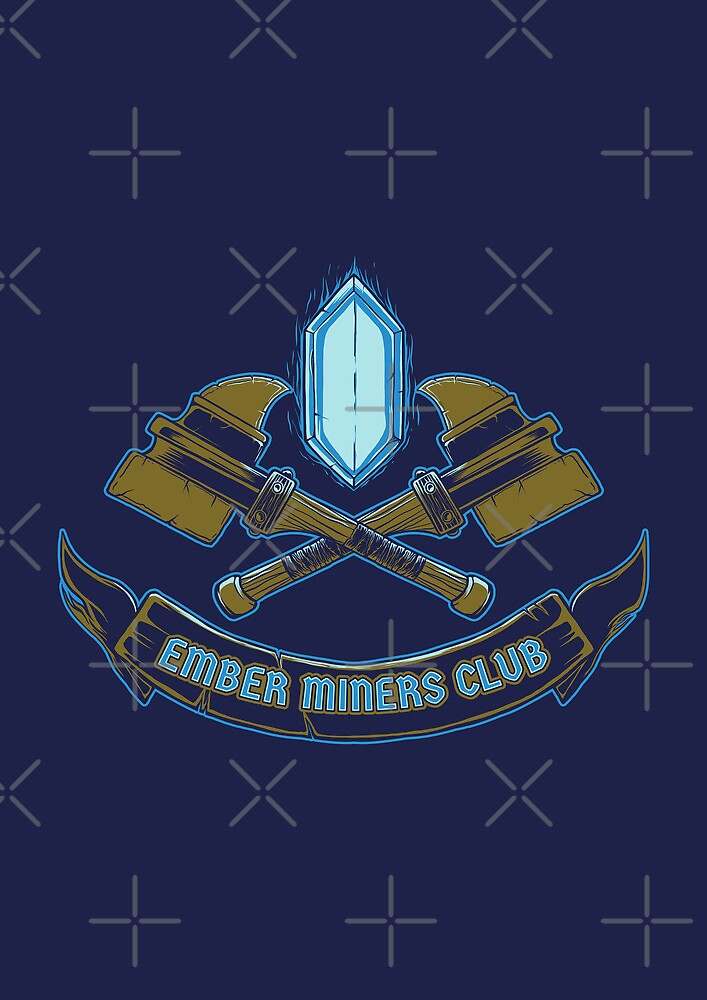 Ember Miners Club - Prints, Stickers, iPhone & iPad Cases by monochromefrog
