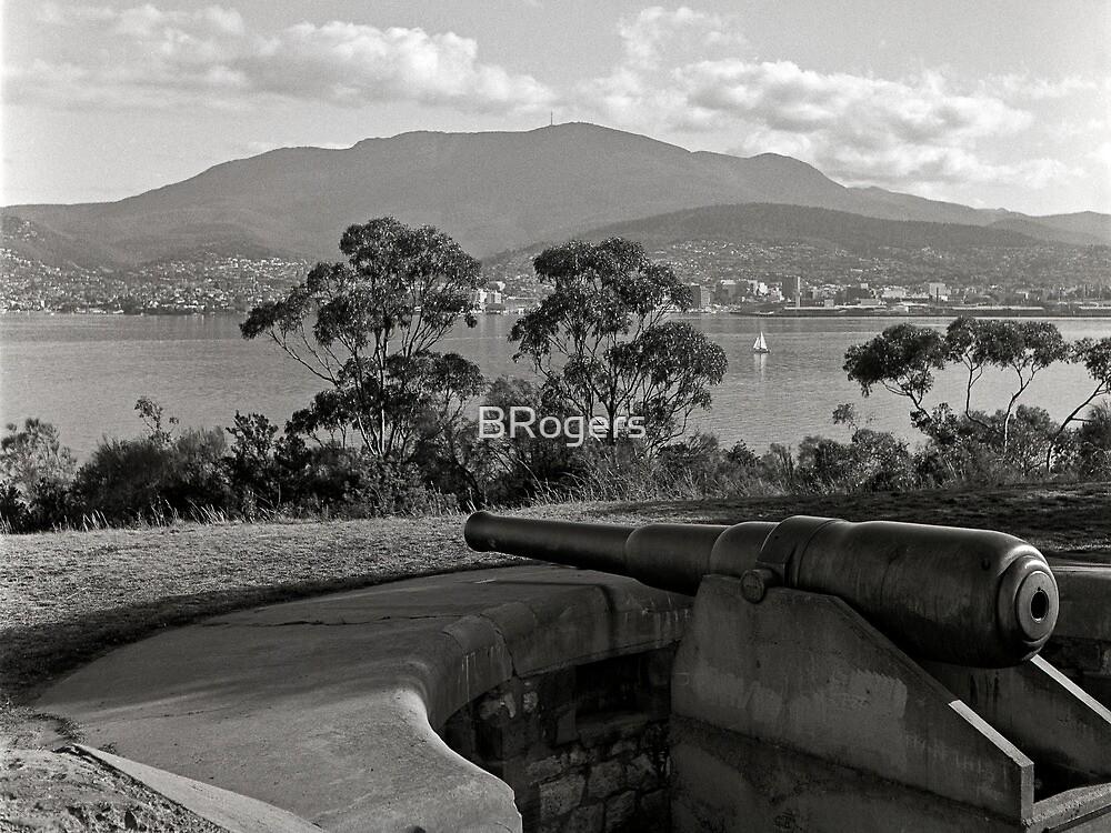 Hobart & Mt Wellington from Kangaroo Bluff by Brett Rogers