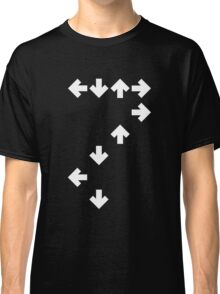 In the Groove: White Arrows Classic T-Shirt