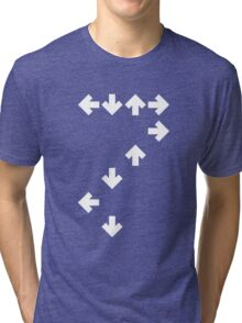 In the Groove: White Arrows Tri-blend T-Shirt