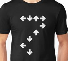 In the Groove: White Arrows Unisex T-Shirt