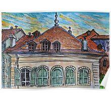 Watercolor Sketch - Genève, Rue de la Fontaine 15 Poster