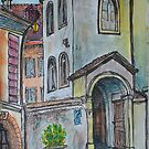 Watercolor Sketch - Genève, Rue Tabazan 7A. 2013 by Igor Pozdnyakov