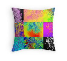 Andy Warhol style tree images, digital photos by Catherine Jacobs Throw Pillow