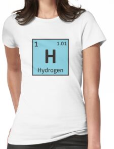 The Periodic Table - Hydrogen Womens Fitted T-Shirt