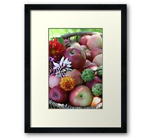 Autumn in a Basket Framed Print