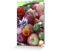 Autumn in a Basket Greeting Card