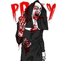 Zombie Nun Photographic Print