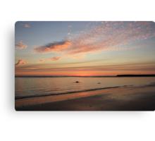 on the beach at kingscliff  Canvas Print