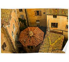 Siena roofs Poster