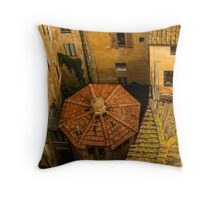 Siena roofs Throw Pillow