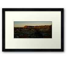 Sunset on the Kings Canyon ranges Framed Print