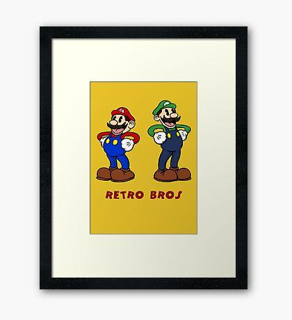 Retro Bros Framed Print