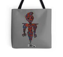 orange flying robot art print desing comic funny monster Tote Bag