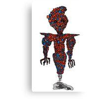 orange flying robot art print desing comic funny monster Canvas Print