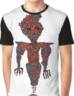 orange flying robot art print desing comic funny monster Graphic T-Shirt
