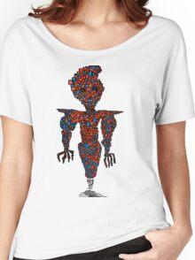 orange flying robot art print desing comic funny monster Women's Relaxed Fit T-Shirt