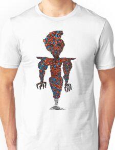 orange flying robot art print desing comic funny monster Unisex T-Shirt
