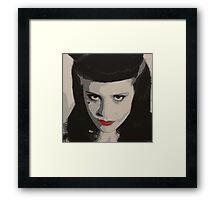 Acrylic Painting of Kate Nash Framed Print
