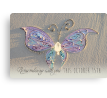 October 15th Butterfly - Girl Canvas Print