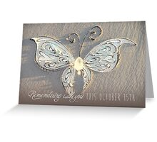 October 15th Butterfly - White Greeting Card