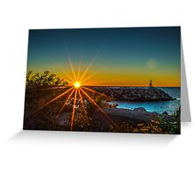 Sunrise Flowers Greeting Card