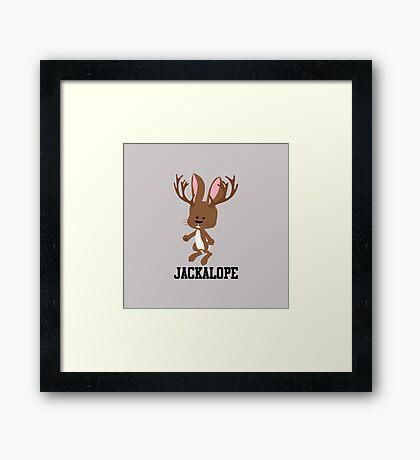 Cute Cartoon Jackalope Framed Print