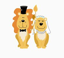Lion and Lionness Wedding Couple Bride and Groom Unisex T-Shirt