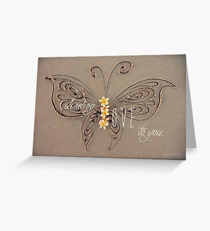 Sending Love Greeting Card