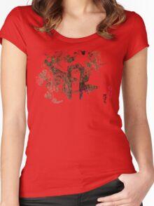 Final Fantasy II Ukiyo-e Women's Fitted Scoop T-Shirt