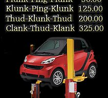 ☝ ☞ $ AUTO REPAIR PRICE LIST PICTURE/CARD $☝ ☞ by ╰⊰✿ℒᵒᶹᵉ Bonita✿⊱╮ Lalonde✿⊱╮