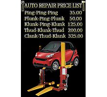 ☝ ☞ $ AUTO REPAIR PRICE LIST PICTURE/CARD $☝ ☞ Photographic Print