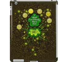 I think I am a body... therefore... iPad Case/Skin