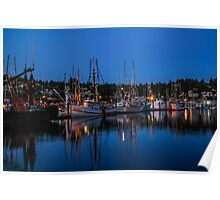 Fishermen's Harbor, Newport, Oregon Poster