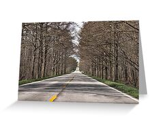 The Road Through the Swamp Greeting Card