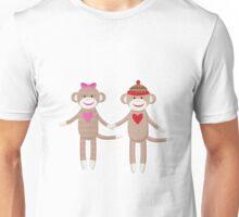 Sock Monkey Wedding Couple Unisex T-Shirt