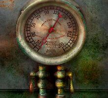 Steampunk - Train - Brake cylinder pressure  by Mike  Savad