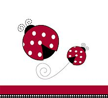 Ladybug Red and Black iPhone Case by JessDesigns
