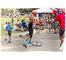 Unicyclist - Basketball - Street rules  Poster