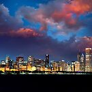 Chicago Skyline Sunset by Steve Ivanov