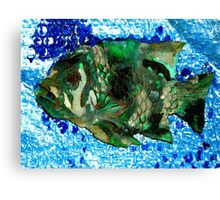 fish in Blue Water Canvas Print