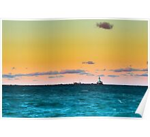 Chicago Harbor Light Poster